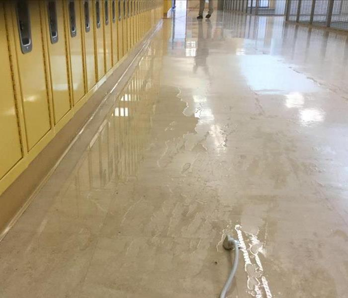 Water loss at school in Vernonia, OR Before