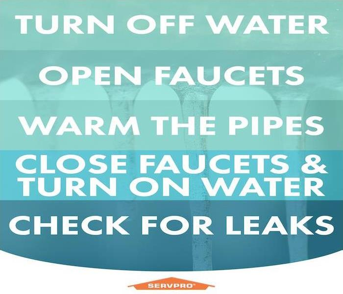 info graphic about frozen pipes